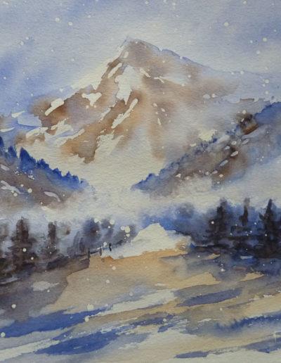 Montagne eneigée